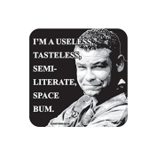 """""""SPACE BUM"""" RED DWARF Coaster - TV / Television Themed Design"""