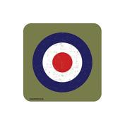 """RAF ROUNDEL GREEN"" UK MILITARY Coaster - British Forces Themed Design"