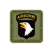 """""""101st AIRBORNE"""" US MILITARY Coaster - American Army Themed Design"""