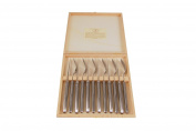 Laguiole Cutlery Set with 6 Steak Knives and Forks, Steel