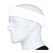 Sport Stretch Headband Sweatband Head Band Sweat Band. Plain Unbranded Black or White Hair Band. Non Towel Fabric. High Quality. Use for Sports Soccer, Running, Tennis Etc. Made from Cotton & Terylene so may be used for or Cosmetic Make-Up Application