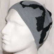 Black White Grey Knitted Camouflage Beanie Hat