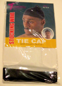 Tommy Stocking Wave TIE CAP with Elastic Band White Du Rag Doo Rag Skull Cap #1018
