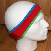 Knitted Horizonal Stripe Headband EarBand Blue Red Green