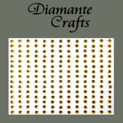 195 x 3mm Gold Diamante Self Adhesive Rhinestone Body Vajazzle Gems - created exclusively for Diamante Crafts