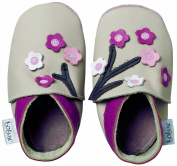 Bobux Blossom Flowers BB 4132 Indoor Baby Shoes Beige