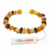 Amber Bracelet - sizes from 18 to 23cm - 100% Genuine Raw Baltic Amber Beads - Adult Men Women - Authentic Curative Adornment - Packed in Organza Gift Bag - MLT.U18-23