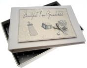 White Cotton Cards New Grandchild Tiny Photo Album