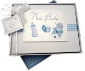 White Cotton Cards Baby Photo Album
