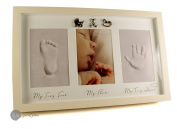 Baby Hand Print and Foot Print Plaster Cast Kit & Photo frame