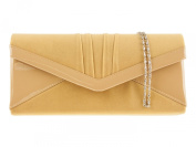Faux Suede Lady Night Party Evening Clutch bag Wedding Prom 8902