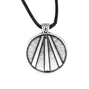 Cornish Awen Tin Pendant on Leather Thong by St. Justin, Cornwall DCP16