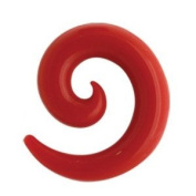 Silicone Spiral Ear Stretcher - Red 3mm