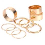 9PCS Golden Plain Cute Above Knuckle Ring Midi Rings