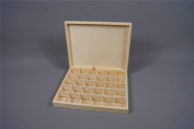 Plain Wooden Boxes 30 Compartment Chest Wooden Storage Jewellery Keepsake 30-COM