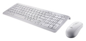 Perixx PERIDUO-303W UK, Wired Keyboard and Mouse Set - USB - 389x142x25mm Dimension - Piano White Design - . Chiclet Key Design - 7 Multimedia Hot Keys - UK Layout