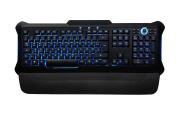 Perixx PX-1100, Backlit Gaming Keyboard - USB - Red/Blue/Purple Illuminated Keys - Full Size Layout - Elegant Rubber Black Design - 20 Million Key-press Lifecycle - Brightness Control Wheel - 1.8 m Cable - Adjustable Palm rest - UK Layout