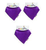 Dribble Ons Bandana Bib - Purple/Grape - ** 3 PACK *.