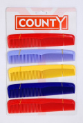 25cm x 18cm Hair Dressing/Dress Plastic Coloured Combs Bulk Wholesale Lot Fast Post