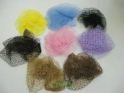 Roller Sleep In Hair Nets 2 pink, 2 brown, 2 yellow