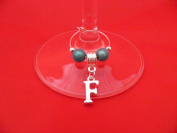 Personalised Silver Plated Letter 'F' Wine Glass Charm by Libby's Market Place