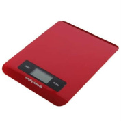 Morphy Richards Accents Electronic Digital Touch Screen Kitchen Scale, Red