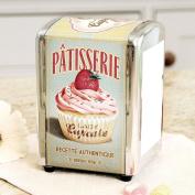 Lady Cupcake Retro 1950's Style Napkin Dispenser with Napkins