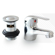 Modern Arian Single Lever Tommy Low Pressure Basin Chrome Mixer Tap with a Classic Design with a FREE Pop-Up Waste