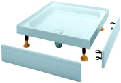 Coram Showers YD764WHI 760 x 760mm 4-Tiling Upstand Shower Tray