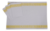 A Pack Of Four Linen Union Glass Cloths (Tea Towels) in Yellow