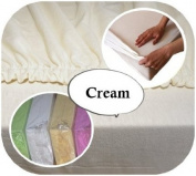 Junior Cot Bed JERSEY Fitted Sheet 160x70cm 100% Cotton - ECRU