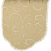 Havard Decorative Chair Back Swirl Design Antimacassar Furniture Cover with Lace Trim
