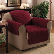 1 Seater 60cm x 180cm Burgundy / Wine Quilted Sofa / Arm Chair Protector Water Resistant Finish