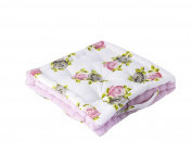 Floral Rose Chunky Box Cushion Kitchen Dining Chair Outdoor Garden Patio Seat Pad with Carry Handle