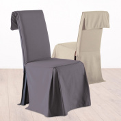 Chair slipcover - Adjustable height - 100 % cotton - Colour