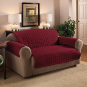 2 Seater Sofa Protector Burgundy / Wine 120cm x 180cm Water Resistant Quilted