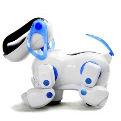 Huayang Electronic Walking Pet Robot Dog Puppy Kids Children Toy Gift With Music Light(Blue)