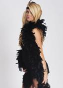 1920's Flapper Girl Fancy Dress Deluxe Black Feather Boa