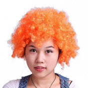 HDE Neon Candy Colour Afro Curly Clown Team Fanatic Halloween Costume Party Wig