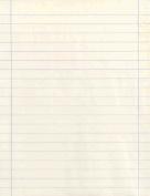 White Newprint Paper with Blue Margin - 22cm x 28cm (1.3cm Margin) - Ream of 500 Sheets