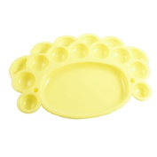 Water & Wood Students Painting Yellow Plastic Dish Watercolour Palette