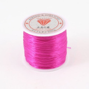 Water & Wood Jewellery Making Crystal Elastic Stretch String Beading Cords Hot Pink 120 Metres