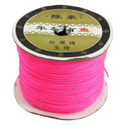 Water & Wood 150 Metres 1mm DIY Jewellery Bead String Chinese Knotting Nylon Rattail Cord Magenta
