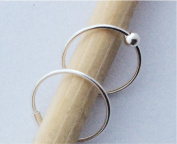 Nose Rings, 10mm, 22 gauge, Sterling Silver, Set of TWO, captive bead and plain hoop, lip,eyebrow,body piercing
