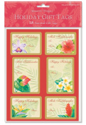 Holiday Labels FESTIVE FLORALS