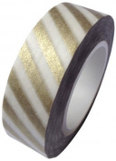Metallic Gold Stripe Japanese Washi Tape - *15mm x 15M* - TWILIGHT PARTIES