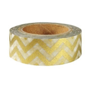 Metallic Gold Chevron Japanese Washi Tape - *15mm x 15M* - TWILIGHT PARTIES