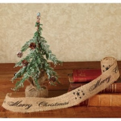 """The Country House Collection Black """"Merry Christmas"""" Ribbon, 5.1cm x 3m"""