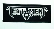 Testament Shield Heavy Metal Music Band Woven Badge Applique Patch