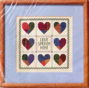 The Creative Circle #1675 Love Spoken Here Counted Cross Stitch Picture Kit